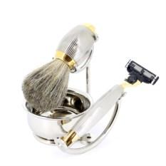 Золотисто-серебристый бритвенный набор S.Quire