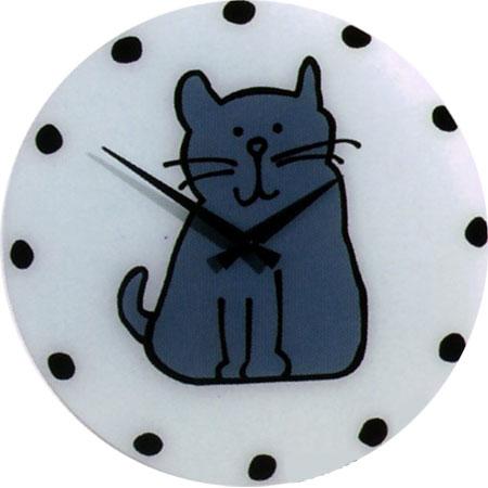 Часы «Кошка синяя»