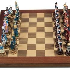 Шахматы из олова Русские и Турки