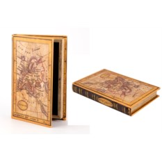 Шкатулка-фолиант Карта, размер 21 х 14 см