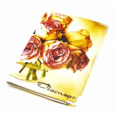 Кожаная обложка на паспорт Розы
