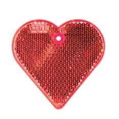 Красный пешеходный светоотражатель «Сердце»