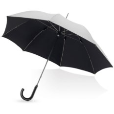 Серебристый механический зонт-трость Ривер