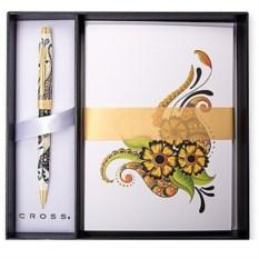 Набор Cross Botanica: ручка Золотая магнолия и открытки