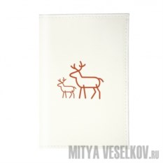 Обложка для паспорта Олень с олененком