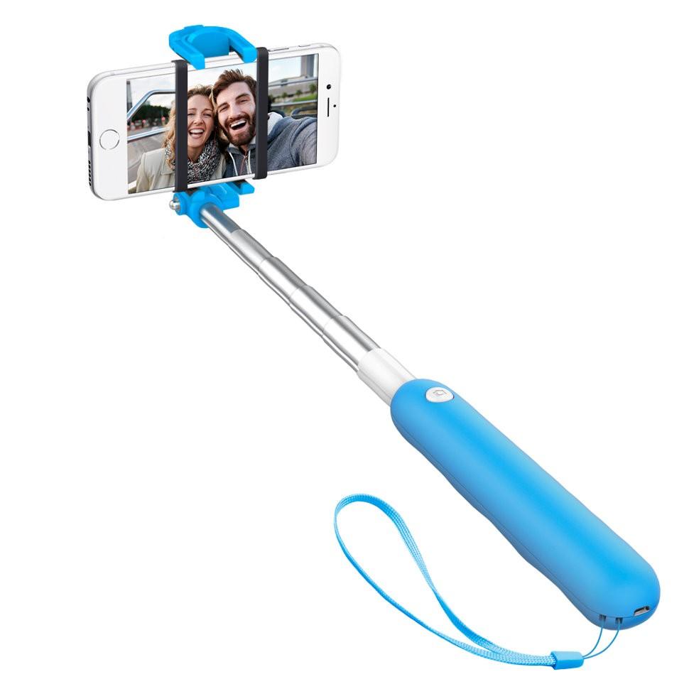 Селфи-монопод Deppa Selfie Mini Blue с Bluetooth-кнопкой