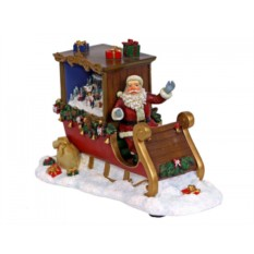 Светящаяся композиция Санта в санях с подарками