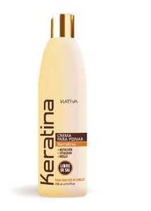 Укрепляющий крем для укладки с кератином для всех типов волос, 250 мл, Kativa