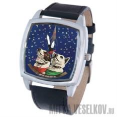 Часы Mitya Veselkov Белка и Стрелка (квадратный циферблат)