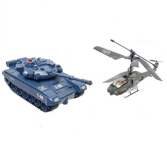 Радиоуправляемый набор танк и вертолет с гироскопом JD803