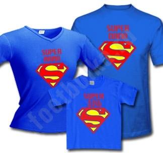 Семейные футболки Супер папа / Супер мама / супер дочь