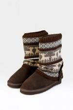 Гетры для обуви Олени, коричневые