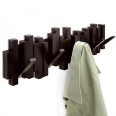 Настенная коричневая вешалка Sticks