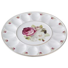 Тарелка для яиц Букет роз Porcelain Manufacturing