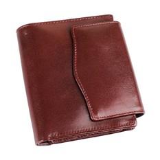 Кожаное портмоне с отделениями для кредитных карт и монет, коричневое