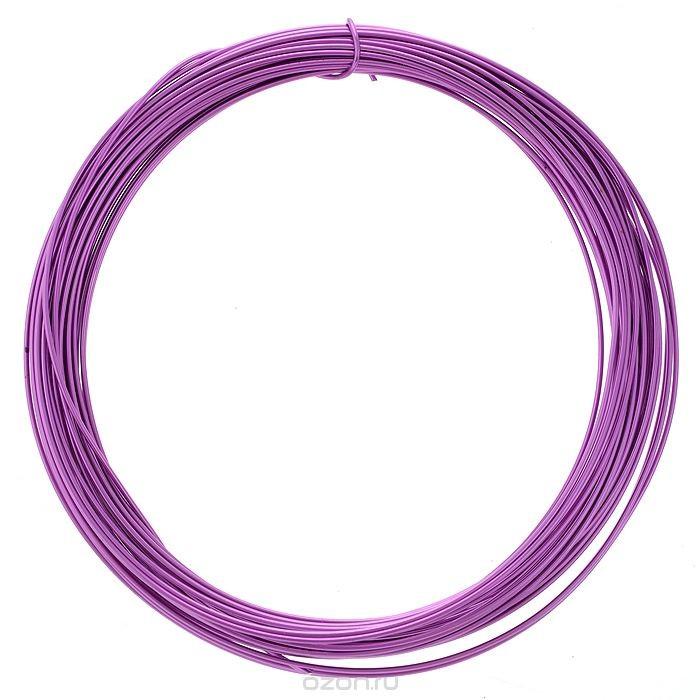 Проволока для рукоделия Астра, цвет: фиолетовый (11), 1 мм х 10 м