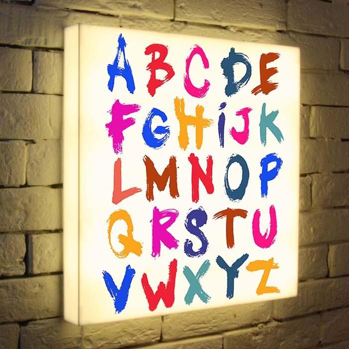Дизайнерский 3D светильник Алфавит