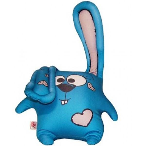 Игрушка антистресс Заяц дуся синий