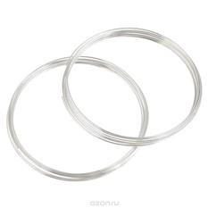 Проволока для браслета Астра, с памятью, цвет: серебристый, 0,6 мм, 2 шт.
