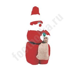 Свернутое полотенце Дед Мороз