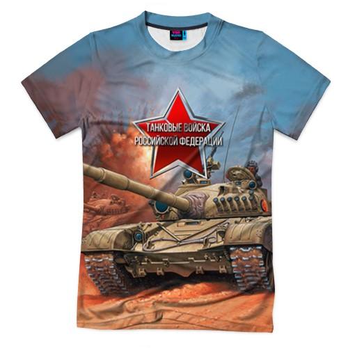 Мужская футболка 3D с полной запечаткой «Танковые войска РФ»
