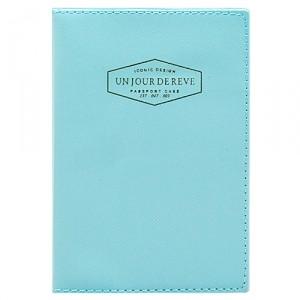 Обложка для паспорта Un jour de reve (голубая)