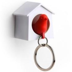 Держатель и красный брелок для ключей Мini Sparrow