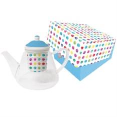 Чайник с ситечком aquarell spots