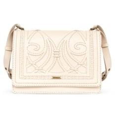 Белая женская сумочка «Ар-нуво»
