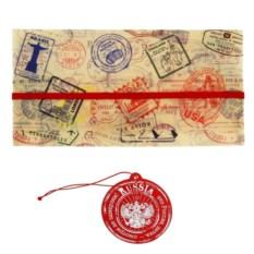 Туристический набор Russia из конверта и бирки на чемодан