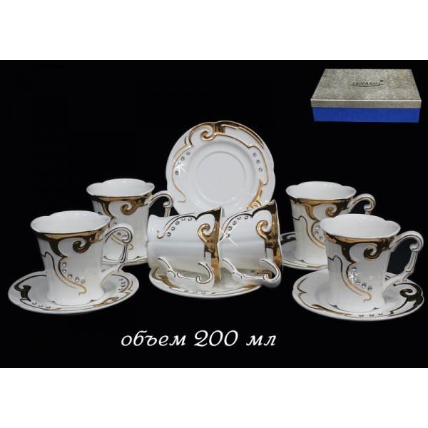 Фарфоровый чайный набор 12 предметов Восточный узор