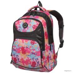 Черно-розовый рюкзак Polar School