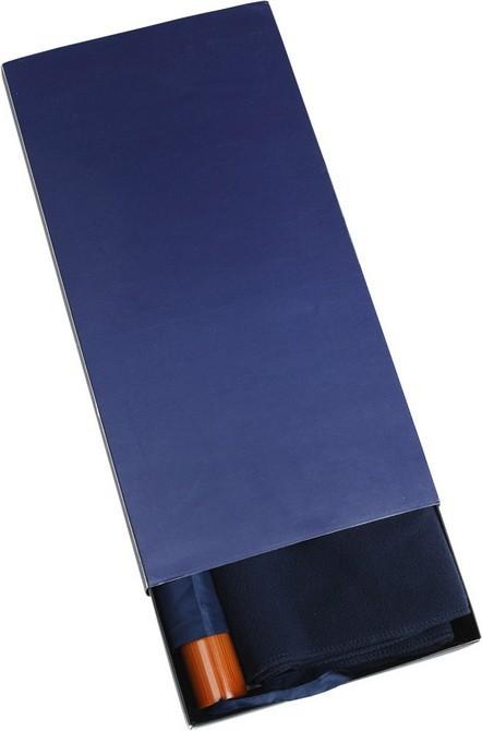 Набор: складной зонт и флисовый шарф в подарочной упаковке, синий