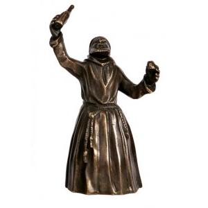 Бронзовый колокольчик Монах