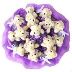 Букет из 15 игрушек Медвежата B029