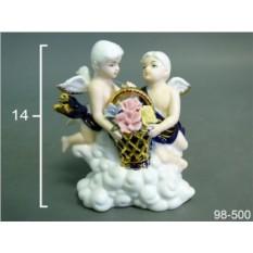 Статуэтка Ангелочки с букетом