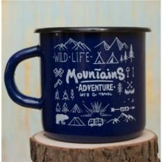 Эмалированная кружка Mountains Вlue