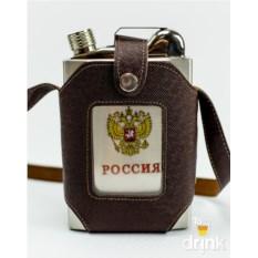 Фляжка в чехле Россия