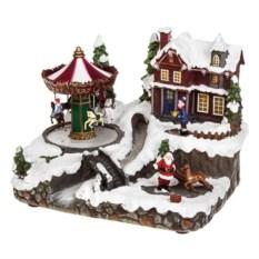 Светящееся и двигающееся украшение У Деда Мороза в гостях