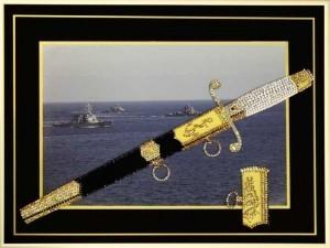 Картина Swarovski Кортик Морской