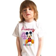 Детская именная футболка Микки