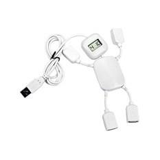 USB Hub на 4 порта с часами Белый человечек