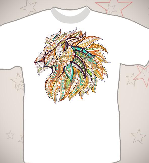 Подарочная футболка «Лев»