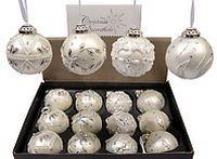 Набор стеклянных шаров Luxury Retro Style, жемчужно-белые