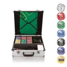 Набор для игры в покер и блэкджек на 600 фишек Азарт