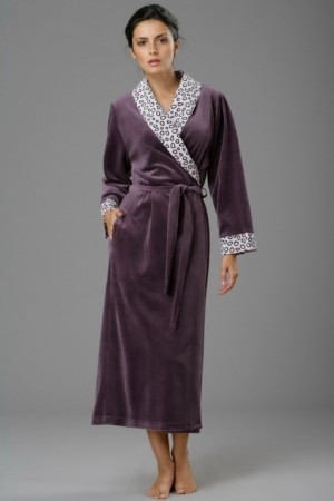 Женский махровый халат из бамбука Peche monnaie