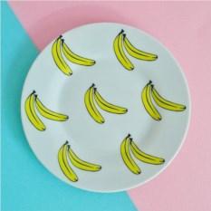 Фарфоровая тарелка Бананы