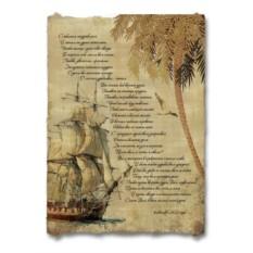 Стихотворное поздравление, оформленное в морском стиле
