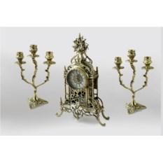 Каминные часы с канделябрами Жарден
