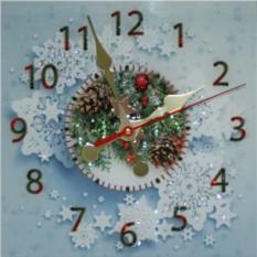 Часы с кристаллами Сваровски Новогодние
